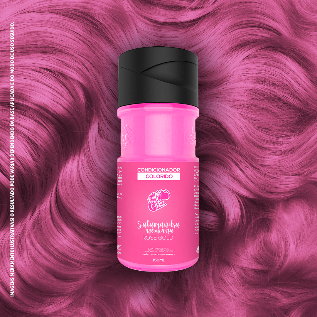 Condicionador Colorido Salamandra Mexicana - Rose Gold 150ml