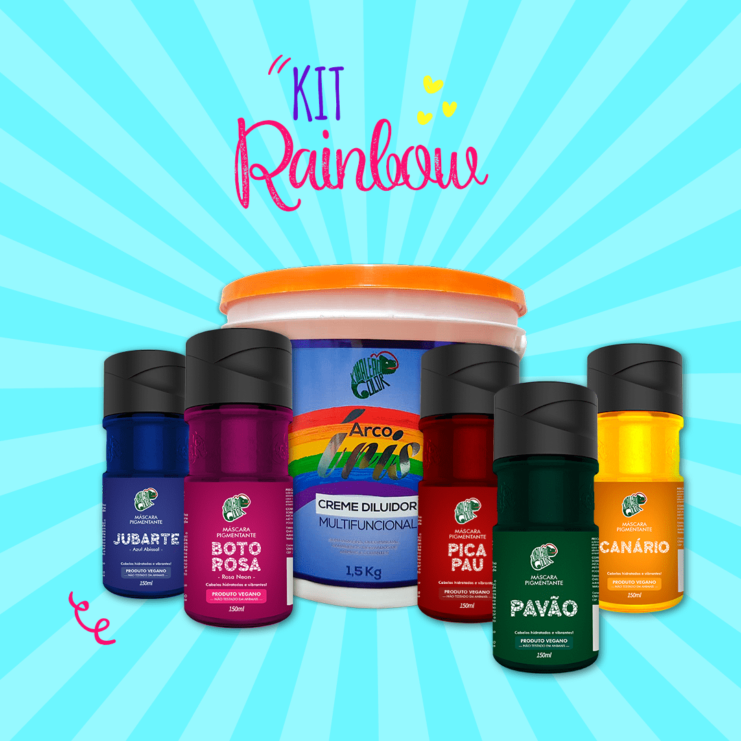 Kit Rainbow Hair - 5 Másc. Pigm. 150ml + 01 Creme Diluidor 1,5kg